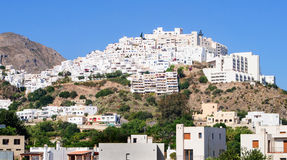 Mojacar village on the hill royalty free stock photography