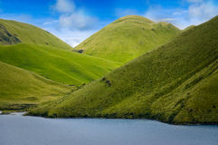 Mojanda盐水湖在厄瓜多尔 图库摄影