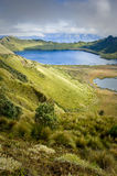Mojanda lagoon in Ecuador Royalty Free Stock Photos