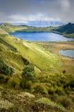 Mojanda lagoon in Ecuador Royalty Free Stock Photos