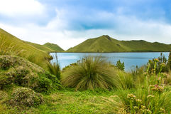 Mojanda lake in Ecuador Stock Photography