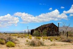 Mojave Desert Abandoned Shack. An abandoned cabin in the vast desert of the Mojave National Preserve in California Stock Photos