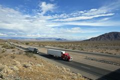 Mojave Desert Freeway Royalty Free Stock Image