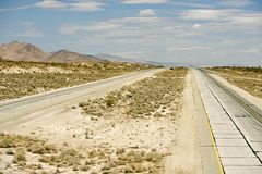Mojave Desert Highway Royalty Free Stock Image