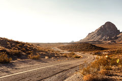 Mojave Desert Highway Royalty Free Stock Photo
