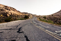 Mojave Desert Highway Stock Photography