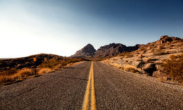 Mojave Desert Highway Royalty Free Stock Images