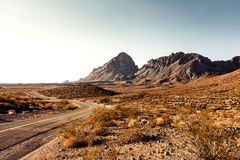 Mojave Desert Highway Royalty Free Stock Photos