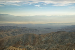 Mojave desert from Inspiration point Royalty Free Stock Photos