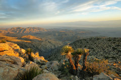 Mojave desert from Inspiration point Royalty Free Stock Photography