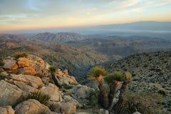 Mojave desert from Inspiration point Stock Image