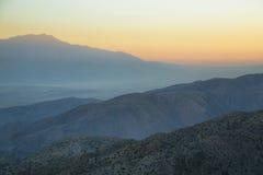Mojave desert from Inspiration point Stock Photo