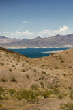 The Mojave Desert in Nevada. Lake Mead and the Mojave Desert royalty free stock photo