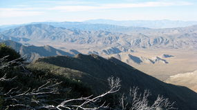 Mojave desert. From pacific crest trail Stock Photography
