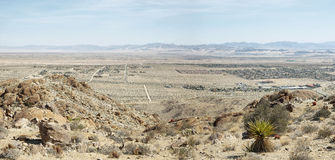 Mojave desert from 49 palms Oasis trail Stock Images