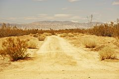 Mojave Desert Road Stock Images