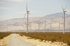 Mojave Desert Road Royalty Free Stock Photography