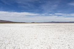 Mojave Desert Salt Flat Dry Lake Royalty Free Stock Photos