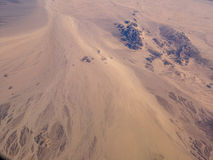 Mojave Desert. Seen from the air royalty free stock photos