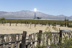 Mojave Desert Solar Industrial Transition Royalty Free Stock Photo