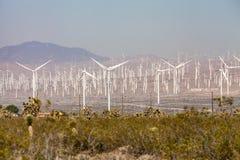 Mojave Desert. Windmill farm in Mojave desert, California Stock Photo