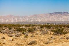 Mojave Desert. Windmill farm in Mojave desert, California Stock Photography