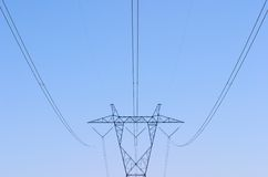 Mojave Power Lines Stock Images