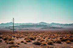Mojave pustyni pobliska trasa 66 w Kalifornia Obrazy Royalty Free