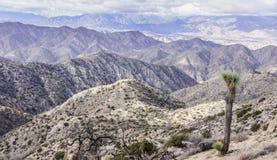 Mojave pustyni widoki od Warren szczytu zdjęcia royalty free