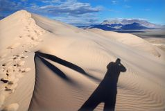 Mojave sand dunes Royalty Free Stock Photography