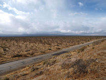Mojave Storm. Winter storm crossing the Mojave desert in Southern California Royalty Free Stock Images