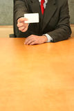 moje biuro karty Zdjęcia Royalty Free