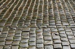 Moje los adoquines del pavimento del bloque Imagen de archivo libre de regalías