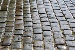 Moje los adoquines del pavimento del bloque Foto de archivo libre de regalías
