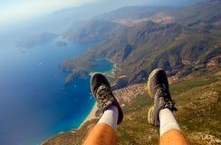 moje stopy poniżej Fotografia Stock