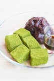 Moji green tea with red bean Stock Photography