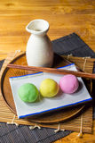 Moji Japanese sweets Royalty Free Stock Photos