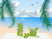 Mojito στην παραλία Στοκ Εικόνες