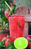 Mojito φραουλών κοκτέιλ στοκ εικόνες με δικαίωμα ελεύθερης χρήσης