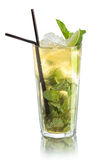 Mojito коктеиля в высоком стекле Стоковое Фото