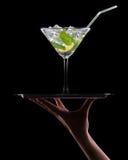 Mojito коктеиля на черноте Стоковая Фотография RF
