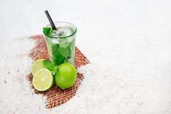 Mojito. Cocktail at the beach Stock Images