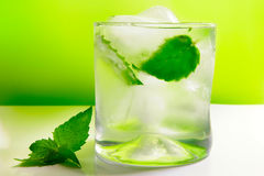 Mojito. Cocktail, with ice and fresh mint Royalty Free Stock Photos