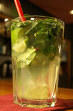 Mojito. A Mojito cocktail on the bar Royalty Free Stock Image