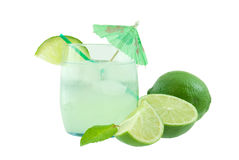 Mojito. Cocktail drink with lime and mint leaves Royalty Free Stock Photography