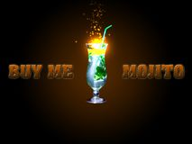 Mojito advertisment photo. Mojito advertisment for different uses royalty free stock photography