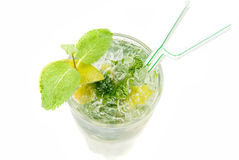 Mojito alcohol fresh cocktail closeup Royalty Free Stock Photography
