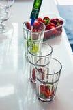 Mojito avec des fraises Image stock