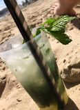 Mojito on The Beach. Having a nice drink on The Beach while laying in The Stock Image