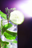 Mojito on black Stock Photo
